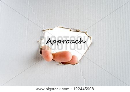 Approach text concept isolated over white background
