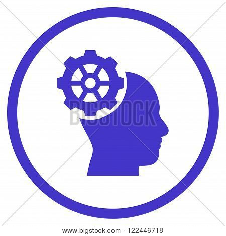 Head Gear vector icon. Picture style is flat head gear rounded icon drawn with violet color on a white background.