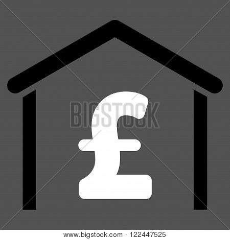 Pound Garage vector icon. Pound Garage icon symbol. Pound Garage icon image. Pound Garage icon picture. Pound Garage pictogram. Flat pound garage icon. Isolated pound garage icon graphic.