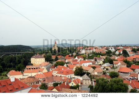 This Landscape Is Panorama Of Veszprem In Hungary