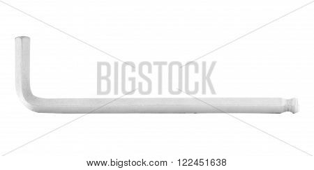 Allen wrench, iron tool for construction, isolated, on white background