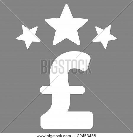 Pound Business Stars vector icon. Pound Business Stars icon symbol. Pound Business Stars icon image. Pound Business Stars icon picture. Pound Business Stars pictogram. Flat pound business stars icon.
