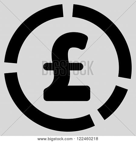 Pound Financial Diagram vector icon. Pound Financial Diagram icon symbol. Pound Financial Diagram icon image. Pound Financial Diagram icon picture. Pound Financial Diagram pictogram.