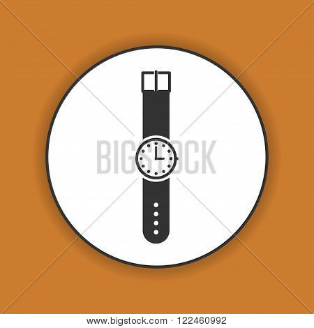 Wristwatch icon. Flat design style eps 10