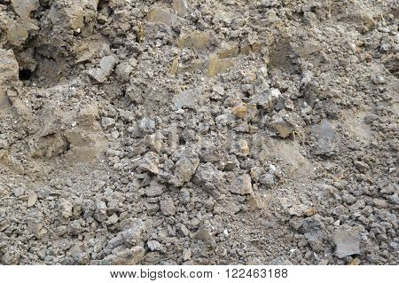 close up dry rough cracked soil texture background