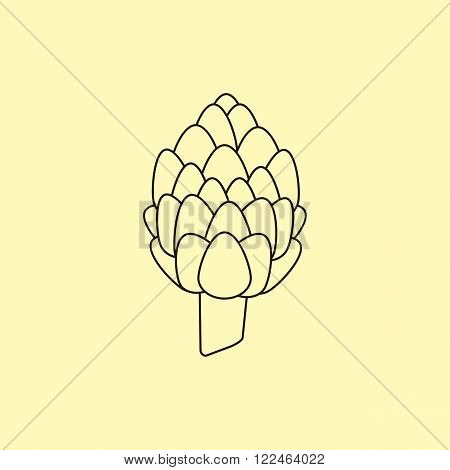 Artichoke icon vector Artichoke. Organic food farm food. Vegetable Icon.