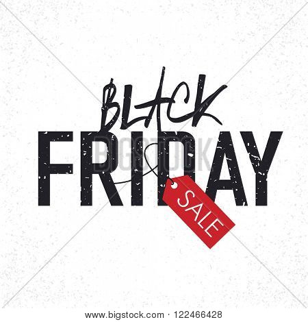Black Friday sales Advertising Poster with Christmas trees silhouettes. Christmas sale. Raster version.
