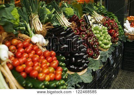 Vegetables In Basket Market Focus Bell Pepper