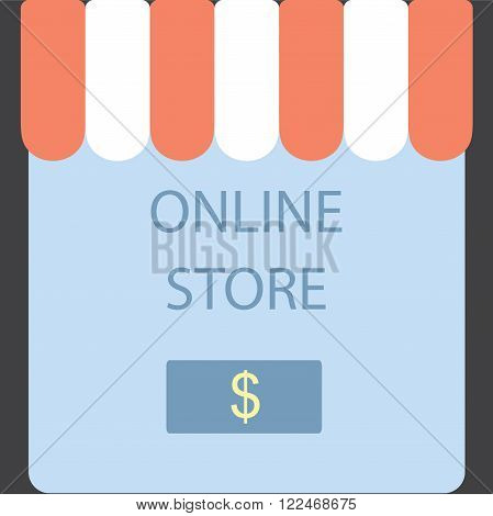 Online Store. Screen button purchase. Vector illustration,