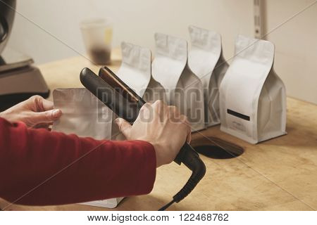 Woman Hand Seal Blank Packages For Retail Sale