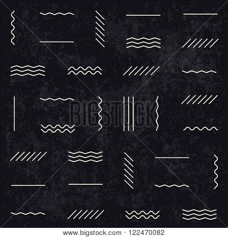 Geometric lines pattern on dark textured background. Raster version
