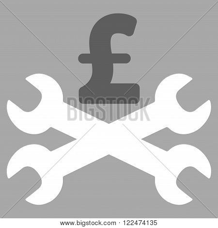 Service Pound Price vector icon. Service Pound Price icon symbol. Service Pound Price icon image. Service Pound Price icon picture. Service Pound Price pictogram. Flat service pound price icon.