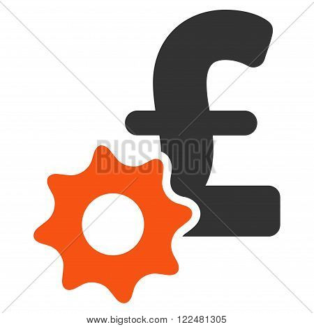 Pound Payment Options vector icon. Pound Payment Options icon symbol. Pound Payment Options icon image. Pound Payment Options icon picture. Pound Payment Options pictogram.