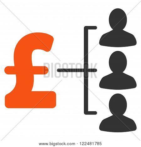 Pound Recipients vector icon. Pound Recipients icon symbol. Pound Recipients icon image. Pound Recipients icon picture. Pound Recipients pictogram. Flat pound recipients icon.