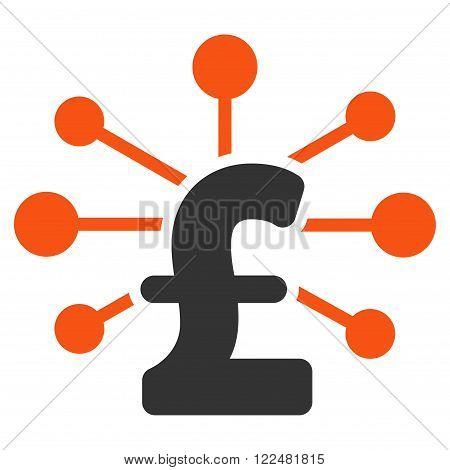 Pound Relations vector icon. Pound Relations icon symbol. Pound Relations icon image. Pound Relations icon picture. Pound Relations pictogram. Flat pound relations icon.