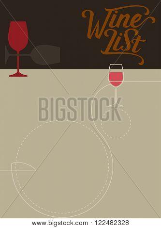 Wine List Menu Card Design Template