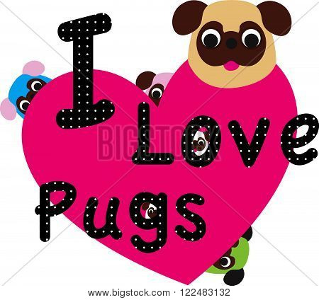 Sweety and cute dog pug kids fashion