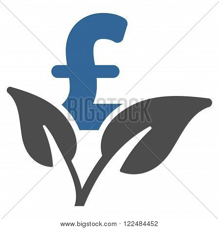 Eco Pound Business Startup vector icon. Eco Pound Business Startup icon symbol. Eco Pound Business Startup icon image. Eco Pound Business Startup icon picture. Eco Pound Business Startup pictogram.