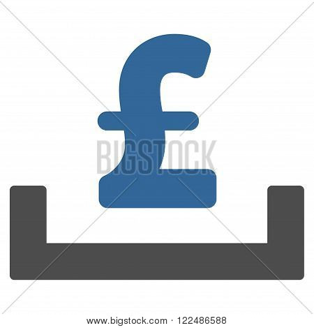 Pound Deposit Placement vector icon. Pound Deposit Placement icon symbol. Pound Deposit Placement icon image.