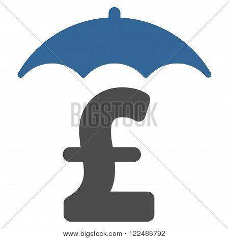 Pound Finances Roof vector icon. Pound Finances Roof icon symbol. Pound Finances Roof icon image.