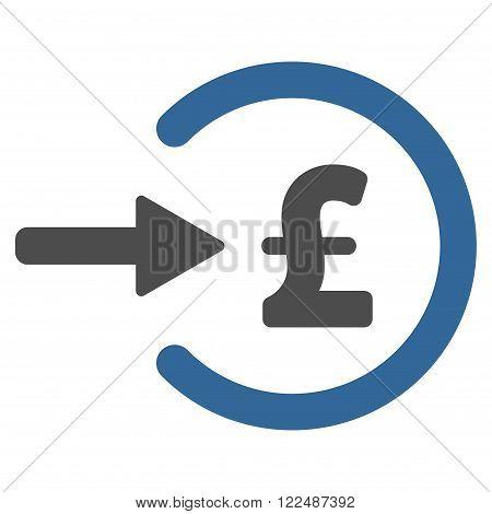 Pound Income vector icon. Pound Income icon symbol. Pound Income icon image. Pound Income icon picture. Pound Income pictogram. Flat pound income icon. Isolated pound income icon graphic.