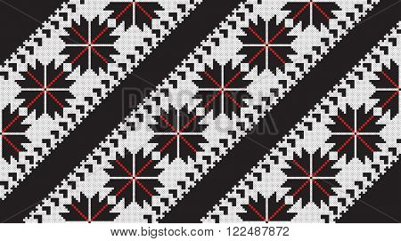 seamless embroidered good like old handmade cross-stitch ethnic Ukraine pattern. Ukrainian ornament in vector