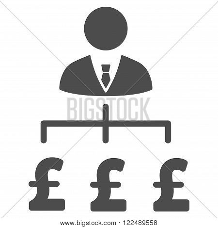 Boss Pound Payments vector icon. Boss Pound Payments icon symbol. Boss Pound Payments icon image. Boss Pound Payments icon picture. Boss Pound Payments pictogram. Flat boss pound payments icon.