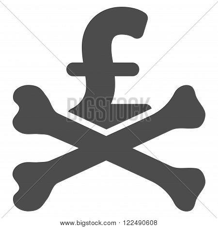 Mortal Pound Debt vector icon. Mortal Pound Debt icon symbol. Mortal Pound Debt icon image. Mortal Pound Debt icon picture. Mortal Pound Debt pictogram. Flat mortal pound debt icon.