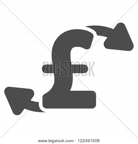Pound Cash Outs vector icon. Pound Cash Outs icon symbol. Pound Cash Outs icon image. Pound Cash Outs icon picture. Pound Cash Outs pictogram. Flat pound cash outs icon.
