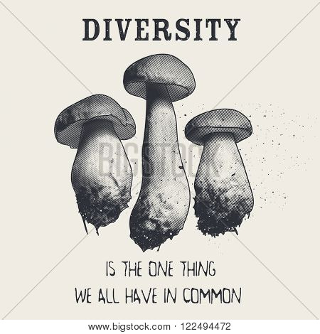 Diversity is the one thing we all have in common. T-shirt design