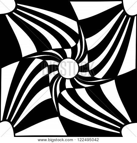Vector modern seamless geometry pattern trippy black and white abstract geometric background pillow print monochrome retro texture hipster fashion design