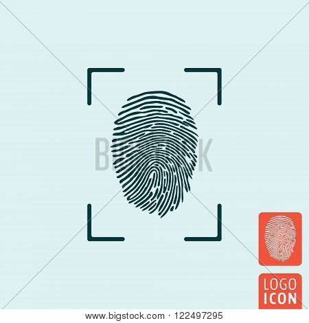 Fingerprint icon. Fingerprint symbol. Finger print icon isolated. Vector illustration