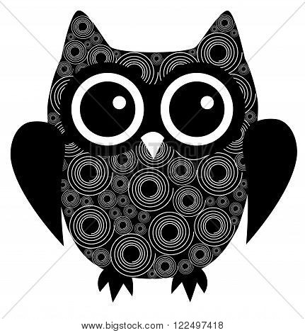 vector illustration of an abstract owl bird