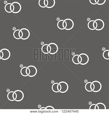 vector illustration of seamless wedding rings background