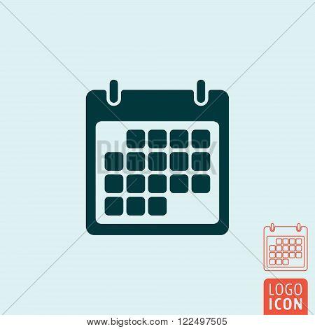 Calendar icon. Calendar symbol. Calendar organizer isolated. Vector illustration