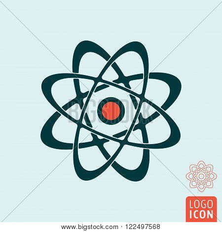 Atom icon. Atom symbol. Nuclear power icon isolated. Vector illustration