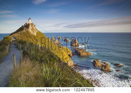 Nugget Point Catlins New Zealand in the evening