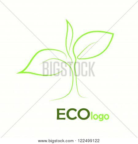 verification Eco logo, design template elements on white