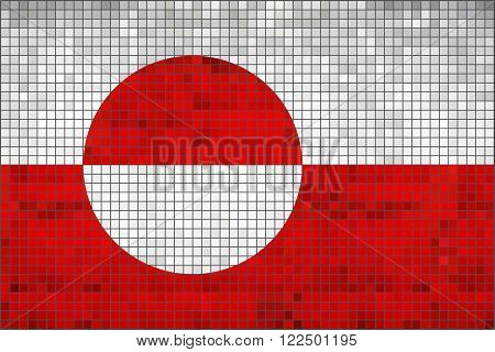 Flag of Greenland - Illustration, 