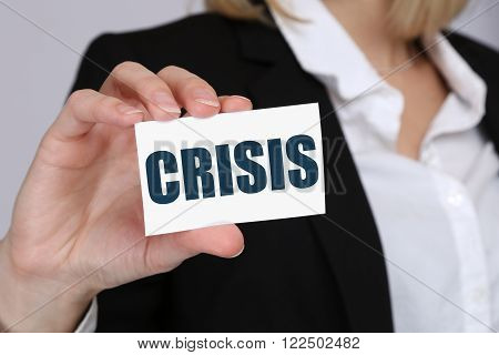 Crisis Financial Banking Management Depts Business Concept