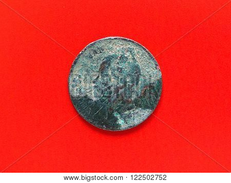 Ancient Rusted Coin
