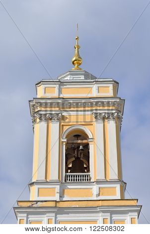 Trinity Cathedral of Alexander Nevsky Lavra ancient monastery in Baroque style in center of St.Petersburg Russia.