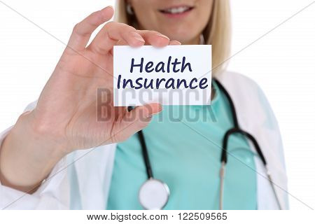 Health Insurance Medical Concept Ill Illness Healthy Doctor Nurse