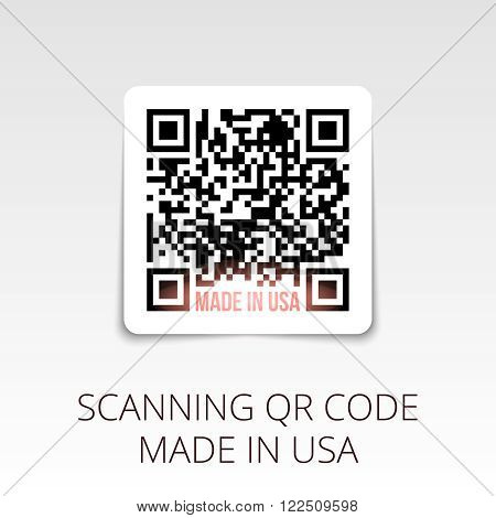 sample qr code ready to scan. made in USA.