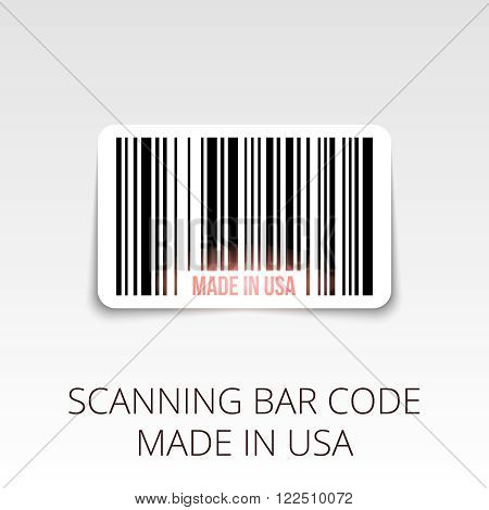 sample bar code ready to scan. made in USA.