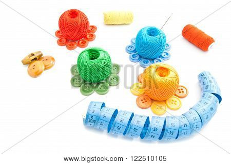 Spools Of Thread, Buttons And Meter