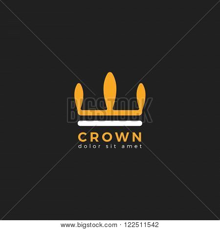 Crown. Crown logo vector illustration. Crown icon.