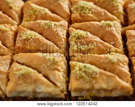 freshly made two dozen batch of baklava