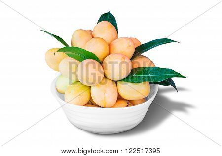 Fresh Ripe Marian Plum, Asian Fruit.