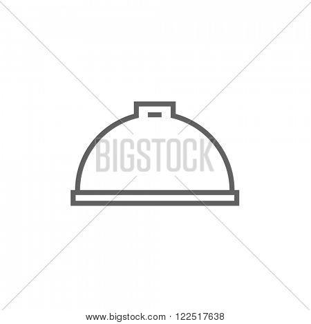 Restaurant cloche line icon.